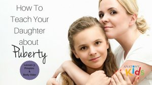 anatomy for kids, teach your daughter about puberty, pimples, acne, body odor
